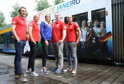 Martin Schulz, Tina Dietze, Cindy Roleder, Christoph Herzog und Franz Anton (vlnr.). Foto: Ralf Julke