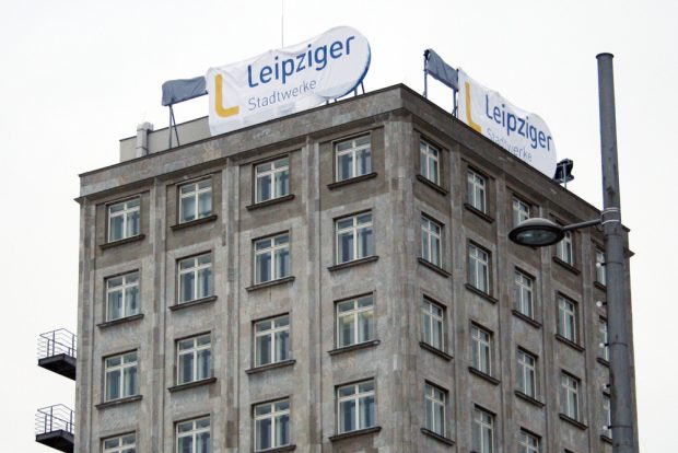 Die neue Leuchtreklame für die Leipziger Stadtwerke ist noch nicht da. Foto: Ralf Julke