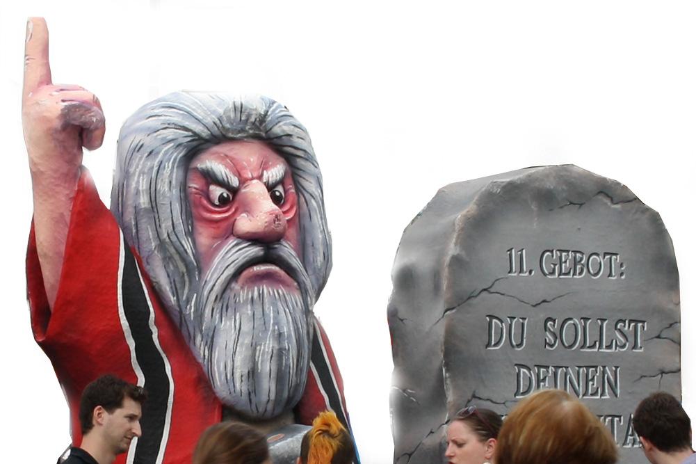 Moses ist ziemlich sauer. Jetzt erst recht. Foto: Ralf Julke