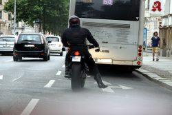 Motorradfahrer - derzeit stärker in Leipzig beäugt als vor dem 25. Juni. Foto: L-IZ.de