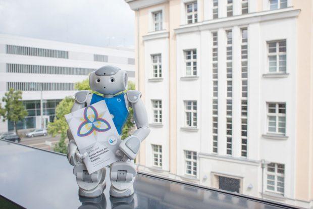 Zur Langen Nacht der Wissenschaften am 24. Juni wird das Nao-Team HTWK zur RoboCup-WM verabschiedet. Foto: Kristina Denhof/HTWK Leipzig