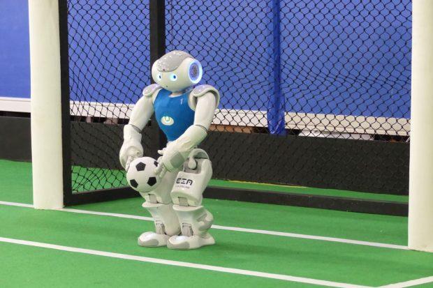 Das Nao-Team HTWK ist Titelaspirant beim 20. RoboCup in Leipzig. Foto: HTWK Leipzig