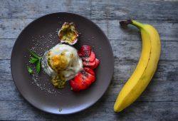 Gesündestes Bananeneis für's Frühstück. Foto: Maike Klose