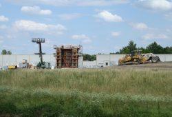 Baustelle der neuen Brücke östlich der Pleiße. Foto: Ralf Julke