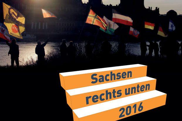 """Auszug Cover """"Sachsen rechts unten"""". Quelle: Kulturbüro Sachsen"""