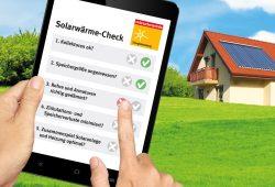 Solarwärme-Check. Foto: VZS