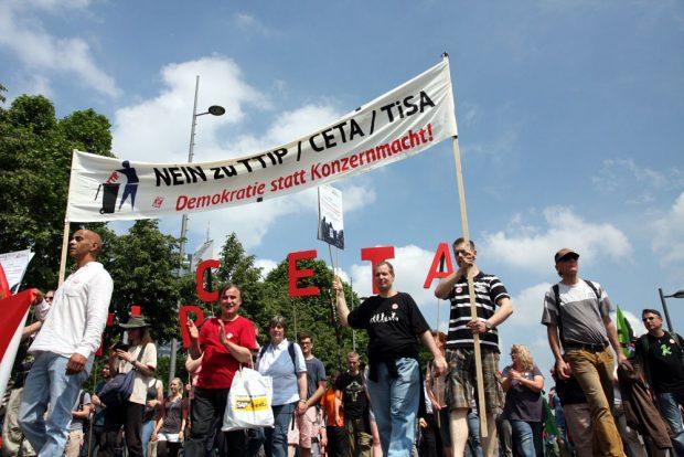 Anti-TTIP-Demonstration in Leipzig. Foto: Michael Freitag