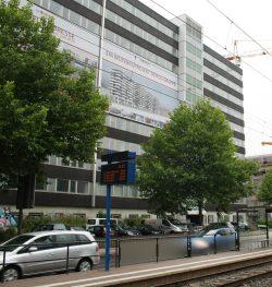 Aus dem einstigen Technische Rathaus wird ein Vertical Village. Foto: Ralf Julke