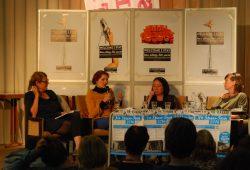 Eine von mehr als 500 Teilnehmenden: Linke-Chefin Katja Kipping. Foto: René Loch