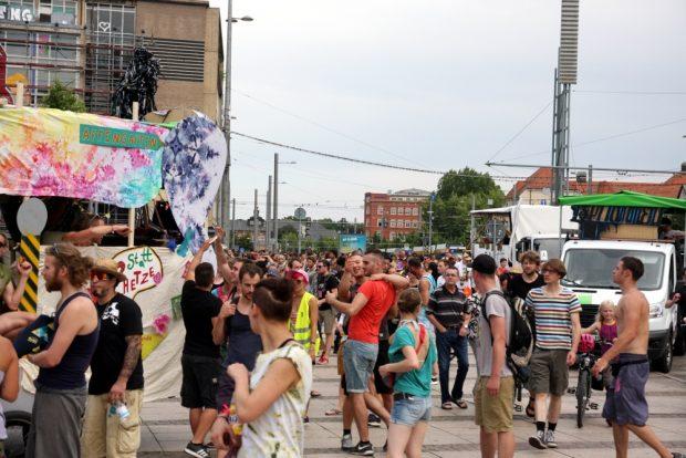 Ankunft der GSO 2016 auf dem Augustusplatz. Foto: L-IZ.de