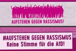 """Flyer der Kampagne """"Aufstehen gegen Rassismus"""". Screenshot: L-IZ.de"""