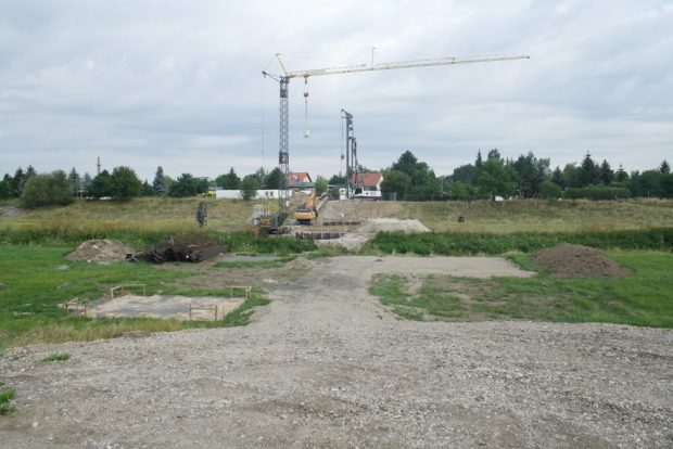 Baustelle der Erikenbrücke. Foto: Ralf Julke