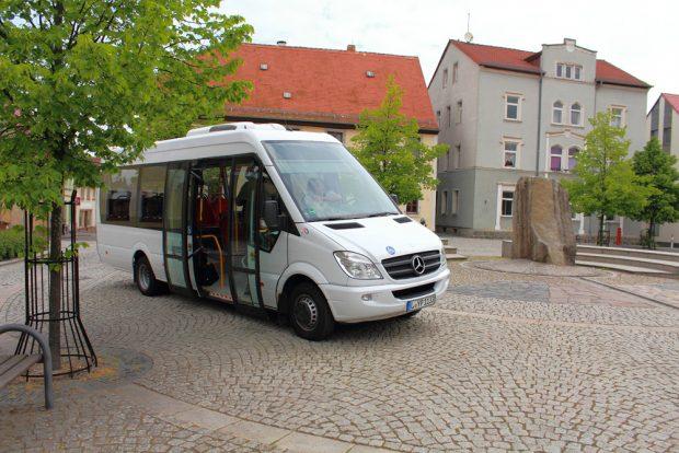 In Brandis schon mal ausprobiert: Midi-Bus im Stadtverkehr. Foto: Regionalbus Leipzig/ MDV