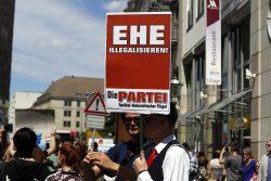 Eine andere Form der Egalisierung bezüglich der Ehe. Foto: Alexander Böhm