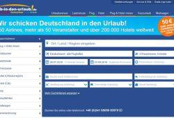 """Noch immer beworben mit """"40 Prozent Rabatt beim Marktführer"""" und es gibt weiter Gutscheine. Ab-In-Den-Urlaub.de am 22. Juli 2016. Screen von ab-in-den-urlaub.de"""