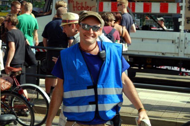 """""""Den Weltfrieden natürlich!"""" Mitorganisator Frank Trepte. Foto: L-IZ.de"""