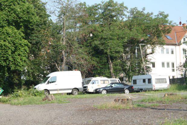 Von Bäumen befreit: das Gelände hinterm Felsenkeller. Foto: Ralf Julke