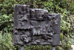 Die gestohlene Bronzeplatte. Foto: agra-Park