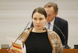 Katharina Schenk als Stadträtin im Leipziger Stadtrat. Archivfoto: L-IZ
