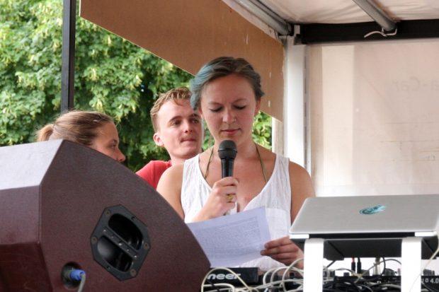 Klare Kante. Noah vom Social Center for all Leipzig. Foto: L-IZ.de