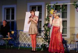 "Actors Slam im Schlosshof. Foto: Freundeskreis ""Gohliser Schlösschen"""