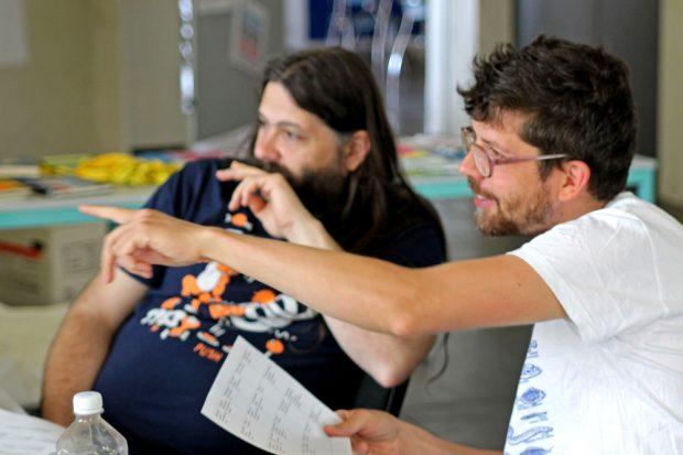 Die beiden Betreuer des Workshops. Foto: H. Martin