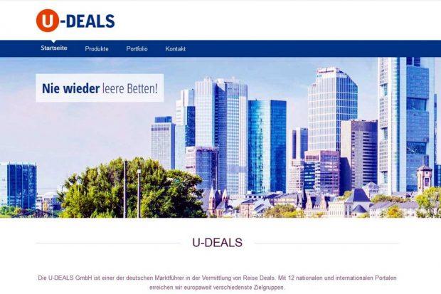 U-Deals.de organisierte ua. die Rabattschlachten mittels Reisegutscheine. 14.000 sind noch offen derzeit. Screen U-Deals.de / 22. Juli 2016