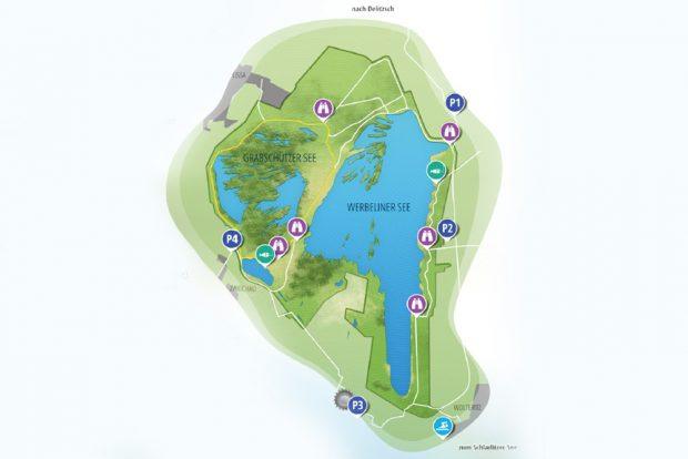 Der Werbeliner See. Karte: Landratsamt Nordsachsen, LMBV