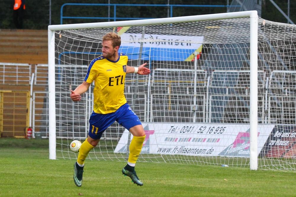 Felix Brügmann traf zum zwischenzeitlichen 1:1 beim VfB Auerbach. Foto: Jan Kaefer (Archiv)