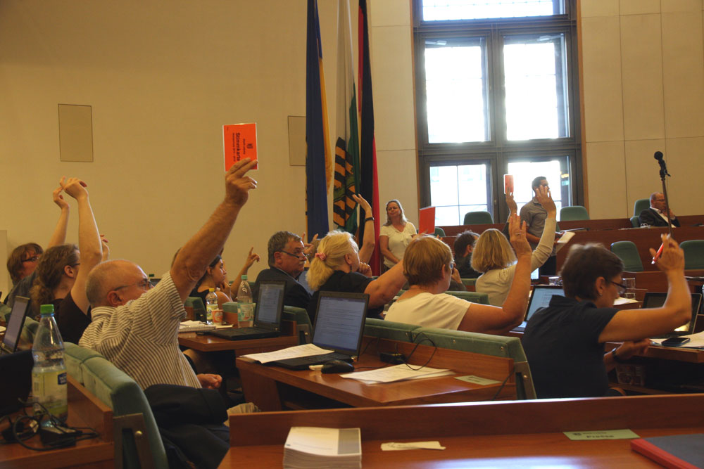 In der Abstimmung unterlagen Grüne und Linke. Foto: L-IZ.de