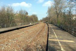 Der Parkbogen Ost (Anlagen an der Zweinaundorfer Str): Aus ehemaligen Bahnanlagen wird ein grünes Aktivband. Foto: L-IZ.de