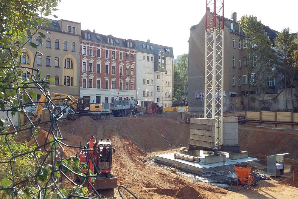 Blick auf die Baustelle Siemeringstraße von der Josephstraße. Foto: M. Hofmann