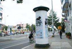Die Plakatkampagne von Biomare: hier am Connewitzer Kreuz. Foto: Ralf Julke
