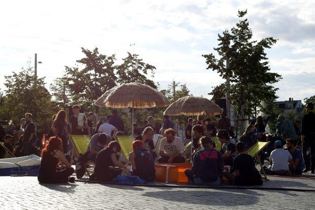 Chillout-Zone Richard-Wagner-Platz. Foto: Alexander Böhm