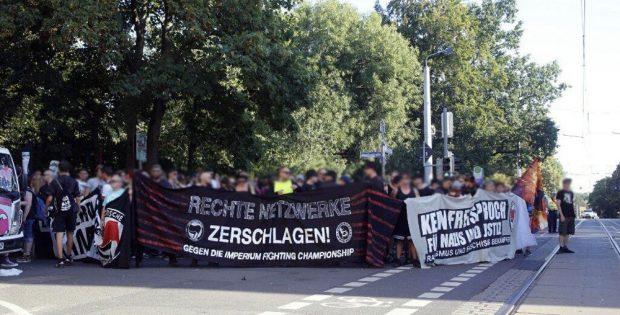 Die Demonstration gegen de Imperium Fightnacht nimmt am 27. August um 17:30 Uhr Aufstellung am Herderpark. Foto: L-IZ.de