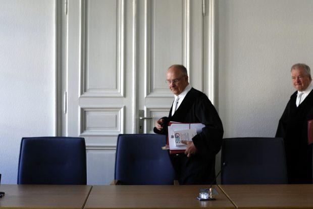 Der Vorsitzende Richter Michael Dahms (Miite). Foto: Alexander Böhm