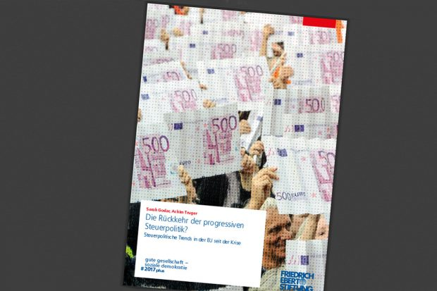 """FES-Veröffentlichung """"Die Rückkehr der progressiven Steuerpolitik?"""" Cover: FES"""