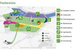 Die geplanten Festbereiche zum Tag der Deutschen Einheit in Dresden. Screenshot: L-IZ