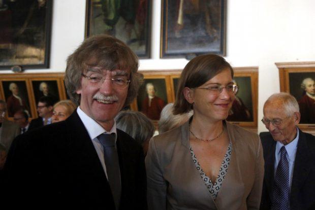 Gotthold Schwarz und Kulturbürgermeisterin Skadi Jennicke. Foto: Alexander Böhm