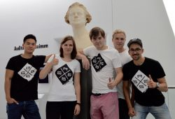 Das GRGS Team (v.l.): Viet Hoang, Julia Berlt, Lauritz Schürmann, Fabian von Frieling, Christoph Henseleit. Foto: GRGS