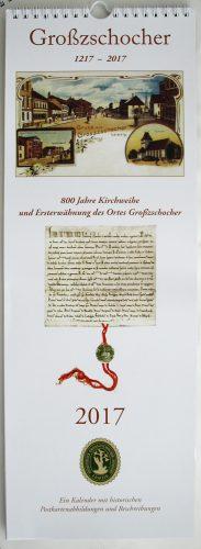 """Kalender """"Großzschocher 1217 - 2017"""". Foto: Ralf Julke"""