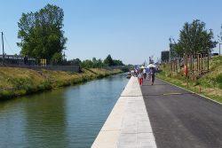 Das 2015 fertiggestellte neue Teilstück des Karl-Heine-Kanals. Foto: Marko Hofmann