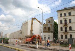 Abriss des Baudenkmals Kleine Funkenburg 2005. Foto: Ralf Julke