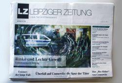 August-Ausgabe der Leipziger Zeitung: Rinke oder Lechte Gewalt. Foto: L-IZ