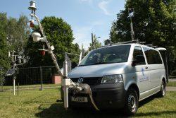 Das Messfahrzeug des Deutschen Wetterdienstes in Leipzig. Foto: Ralf Julke