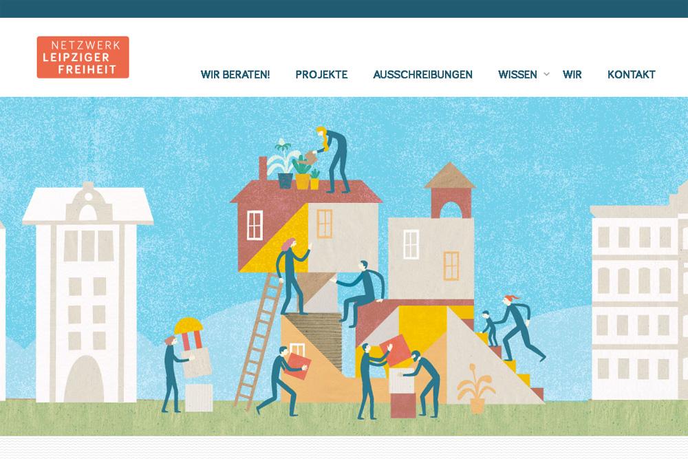 """Die neue Website """"Netzwerk Leipziger Freiheit"""", Screenshot: L-IZ"""