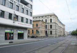 Kein billiges Pflaster: Prager Straße im Grafischen Viertel. Foto: Ralf Julke