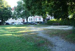 Der Schillerplatz in Wahren im heutigen Zustand. Foto: Ralf Julke