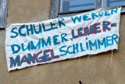 Protest gegen die sächsische Lehrerpolitik im Jahr 2012. Foto: Marko Hofmann