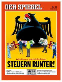 """""""Spiegel""""-Titel: """"Steuern runter!"""" Screenshot: L-IZ"""